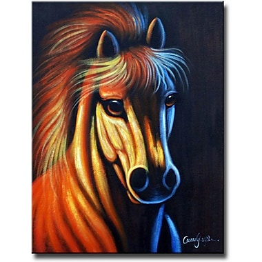 White Walls Mind That Horse Framed Original Painting on Wrapped Canvas