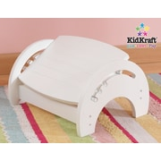 KidKraft 1-Step Manufactured Wood Adjustable Step Stool for Nursing; White