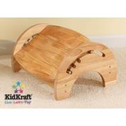KidKraft 1-Step Manufactured Wood Adjustable Step Stool for Nursing; Natural