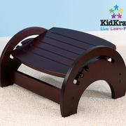 KidKraft 1-Step Manufactured Wood Adjustable Step Stool for Nursing; Cherry