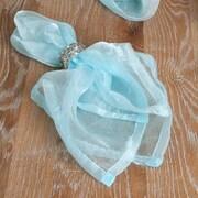 Saro Crushed Tissue Decorative Napkin (Set of 12); Aqua