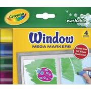 Crayola Washable Window Mega Markers (4 Pack)