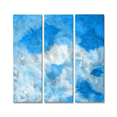 All My Walls 'Blue Love' by Allyson Kitts 3 Piece Painting Print Plaque Set