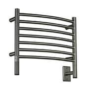 Amba Jeeves Wall Mount Electric H Curved Towel Warmer; Brushed