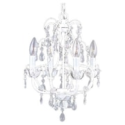 Livex Lighting Athena 4 Light Chandelier; Antique White