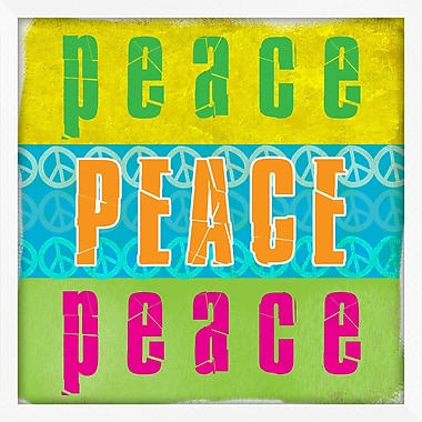 PTM Images Peace and Love Textual Art Shadow Box