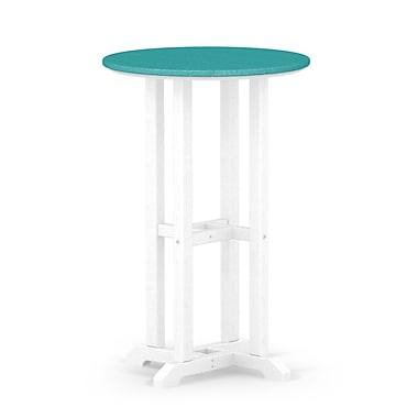 POLYWOOD Contempo Dining Table; White / Aruba