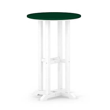 POLYWOOD Contempo Dining Table; White / Green