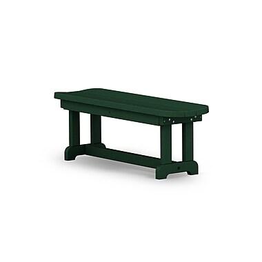 POLYWOOD Park 48'' Wood Picnic Bench; Green
