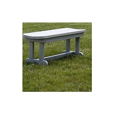 POLYWOOD Park 48'' Wood Picnic Bench; Sand