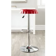 Safavieh Bunky Adjustable Height Swivel Bar Stool; Red