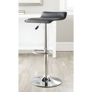 Safavieh Sheba Adjustable Height Swivel Bar Stool with Cushion; Black