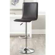Safavieh Magda Adjustable Height Swivel Bar Stool with Cushion; Brown