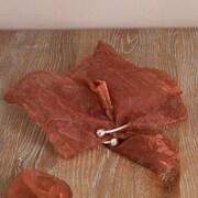 Saro Crushed Tissue Decorative Napkin (Set of 12); Mocha
