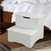 InRoom Designs 2-Step Manufactured Wood Storage Step Stool; White