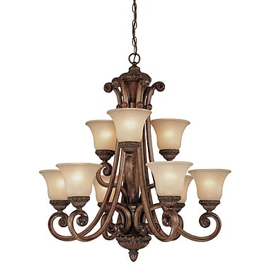 Dolan Designs Carlyle 9 Light Shaded Chandelier