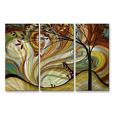 All My Walls 'Out West' by Megan Duncanson 3 Piece Graphic Art Plaque Set