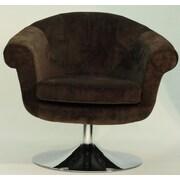 Fox Hill Trading Overman Disc Base Twist Chair; Brown