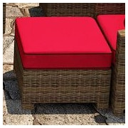 Forever Patio Cypress Ottoman with Cushion; Flagship Ruby / Canvas Bay Brown Welt