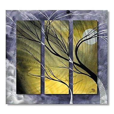 All My Walls 'Moonlight' by Megan Duncanson 3 Piece Graphic Art Plaque Set