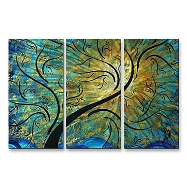 All My Walls 'Rainbow Night' by Megan Duncanson 3 Piece Graphic Art Plaque Set