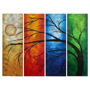 All My Walls 'In Living Color' by Megan Duncanson 4 Piece Original Painting on Metal Plaque