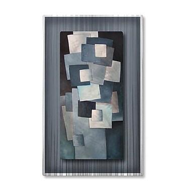 All My Walls 'Squares' by Lili Vanderlaan Graphic Art Plaque