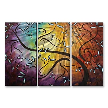 All My Walls 'Sweet Blossoms' by Megan Duncanson 3 Piece Graphic Art Plaque Set