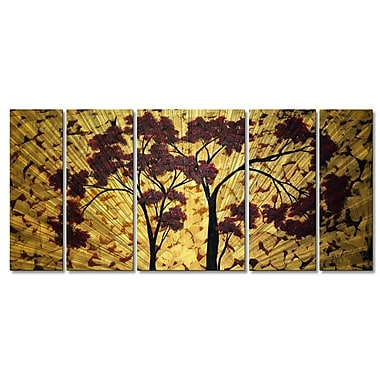 All My Walls 'Sweet Blossoms' by Megan Duncanson 5 Piece Graphic Art Plaque Set