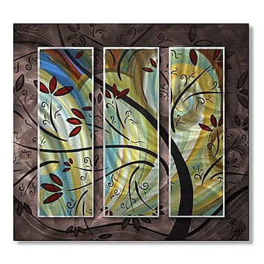 All My Walls 'Follow The Wind' by Megan Duncanson 3 Piece Graphic Art Plaque Set