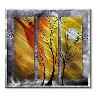 All My Walls 'Golden Surprise' by Megan Duncanson 3 Piece Graphic Art Plaque Set