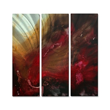 All My Walls 'The Rush' by Megan Duncanson 3 Piece Graphic Art Plaque Set