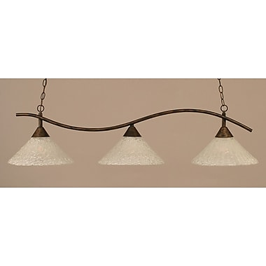 Toltec Lighting Swoop 3-Light Kitchen Island Pendant