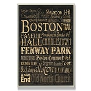 Stupell Industries Boston Typography Rectangle Wall Plaque; 15'' H x 10'' W x 0.5'' D