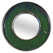 Foreign Affairs Home Decor Kaca Mirror; Green / Green