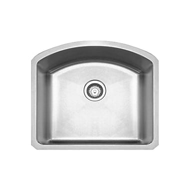 Whitehaus Collection Noah's 23.25'' x 20.88'' Chefhaus Single Bowl Undermount Kitchen Sink