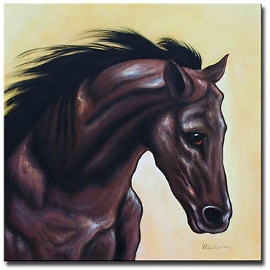 White Walls Triple Crown Framed Original Painting on Wrapped Canvas