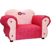Keet Comfy Kid's Club Chair; Pink & Purple / Love