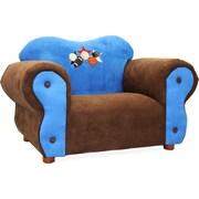 Keet Comfy Kid's Club Chair; Blue & Brown / Sports