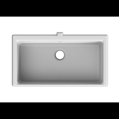 Scarabeo by Nameeks Miky Square Ceramic Undermount Sink w/ Overflow