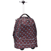 Pacific Gear Horizon Rolling Laptop Backpack; Turquoise and Brown