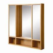 DecoLav Tyson 30'' x 4'' x 32 Mirrored Medicine Cabinet; Maple