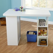 TMS Wood Craft Table; White