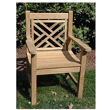Regal Teak Chippendale Arm Chair