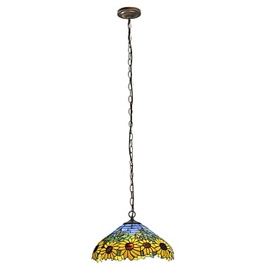Meyda Tiffany Wild Sunflower 2 Light Pendant