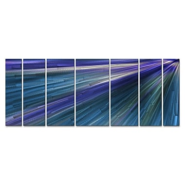 All My Walls 'In The Blue Light' by Ash Carl 7 Piece Graphic Art Plaque Set