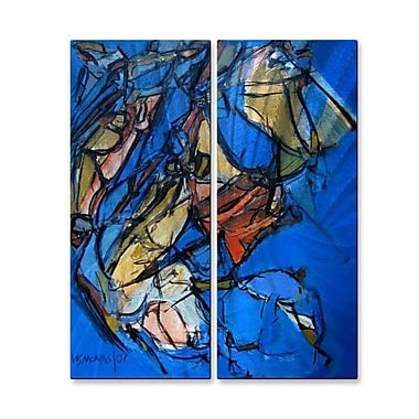 All My Walls 'Splay 22' by Wendy Morris 2 Piece Painting Print Plaque Set