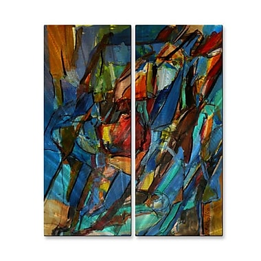 All My Walls 'Rib-Cage 56' by Wendy Morris 2 Piece Painting Print Plaque Set