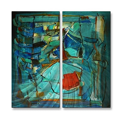 All My Walls 'Rib-Cage 51' by Wendy Morris 2 Piece Painting Print Plaque Set