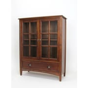 Wayborn Traditional 47'' Barrister Bookcase; Brown